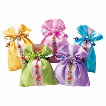 韓国お土産 | 韓国 巾着ポーチ 5個セット [別送][代引不可][翌日配送不可]【178022】
