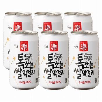 韓国お土産 | 缶入り マッコリ 6缶セット  [別送][代引不可][翌日配送不可]【R78003】