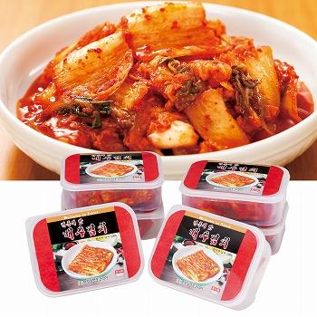 韓国お土産 | タッパー入り 白菜キムチ 6パックセット [別送][代引不可][翌日配送不可]【178006】