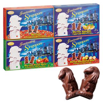 シンガポールお土産 | マーライオンチョコレート 4種セット【186053】