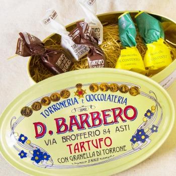 [賞味期限間近のため特別価格40%OFF] イタリアお土産 | バルベロ リモンチェッロ缶 9粒( チョコ3種詰め合わせ ) 【105479】