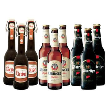 ドイツお土産 | ドイツビール3種飲み比べセット(エルディンガー ヴァイス&ケストリッツアー・シュヴァルツビア&ツム・ユーリゲ アルト)【R06095】