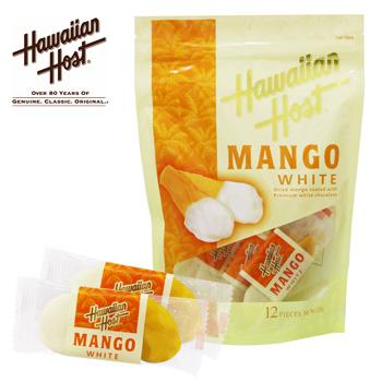 リゾートお土産 | ハワイアンホースト ドライマンゴーホワイトチョコレート 1袋【105544】