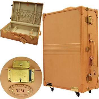 【三洋堂創業100周年記念商品】 ヌメ革使用スーツケースSUNTEX CEO サンテックス シーイーオー スーツケース 【T10050】
